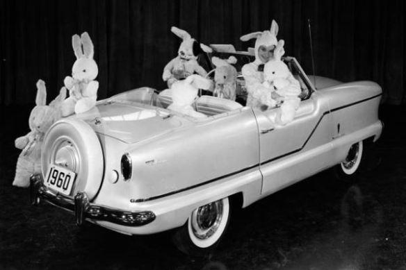 1960 AMC Metropolitan Fifth Avenue RR with bunnies