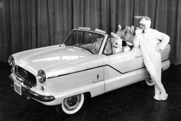 1960 AMC Metropolitan Fifth Avenue with bunny