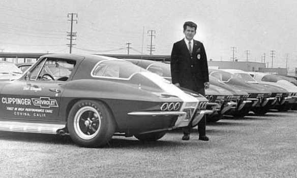 Bob Wingate with six lamp Corvette
