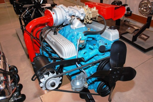 Buick Nailhead turbo with Carter sidedraft carbs