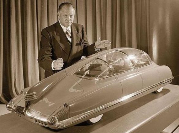 Harley Earl with Corsair