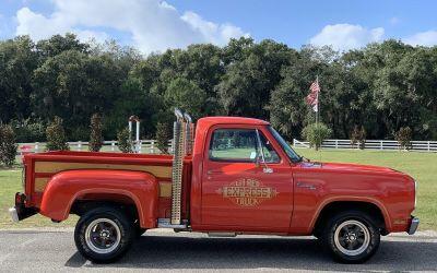 1979 Dodge Lil Red Express Truck Classic Dodge Lil Red Express Truck Adventurer D150 LRE $21900