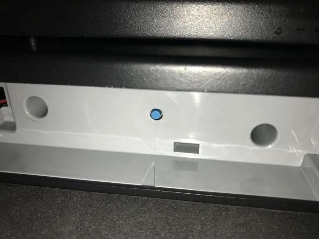 SentrySafe Reset button
