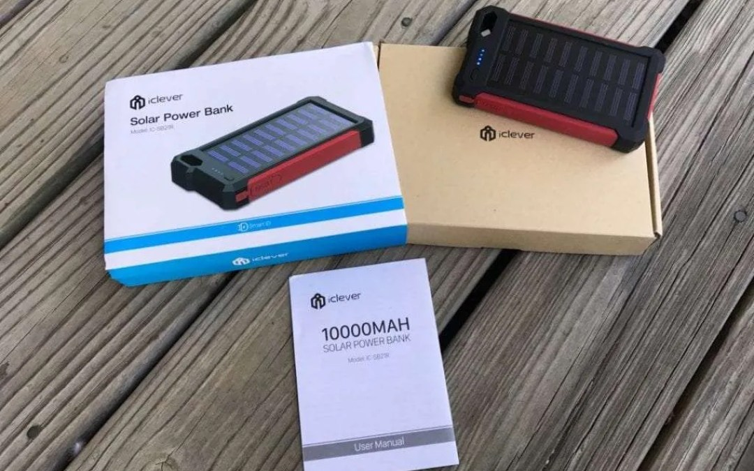 iClever IC-SB21R Solar Power Bank REVIEW Solar charge in an emergency