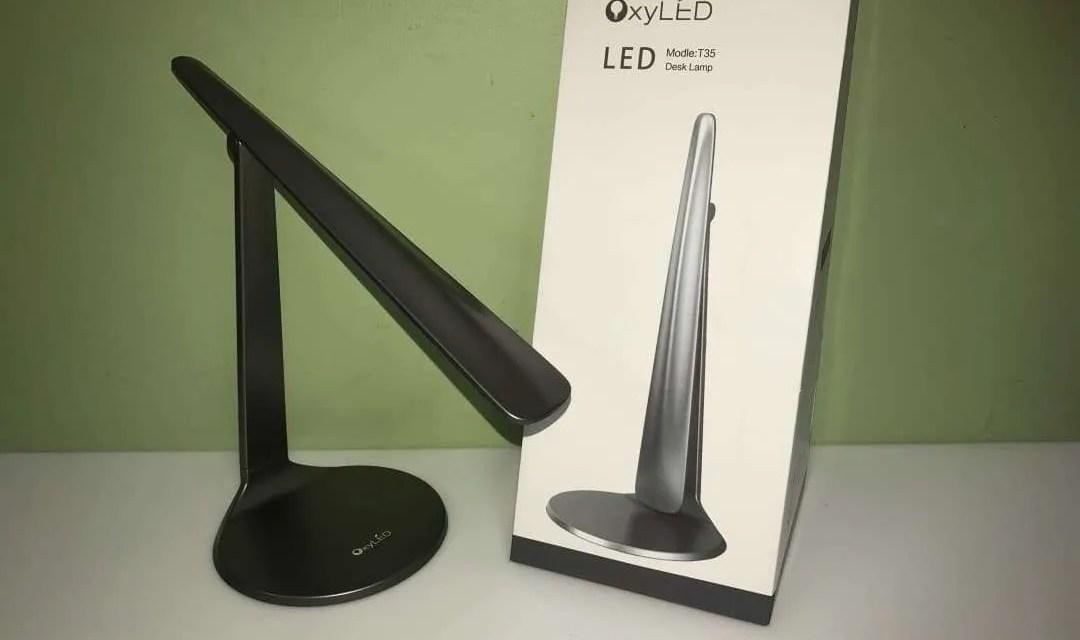 OxyLED Desk Lamp T35 REVIEW Sleek, Modern, Art Deco designed desk lamp.