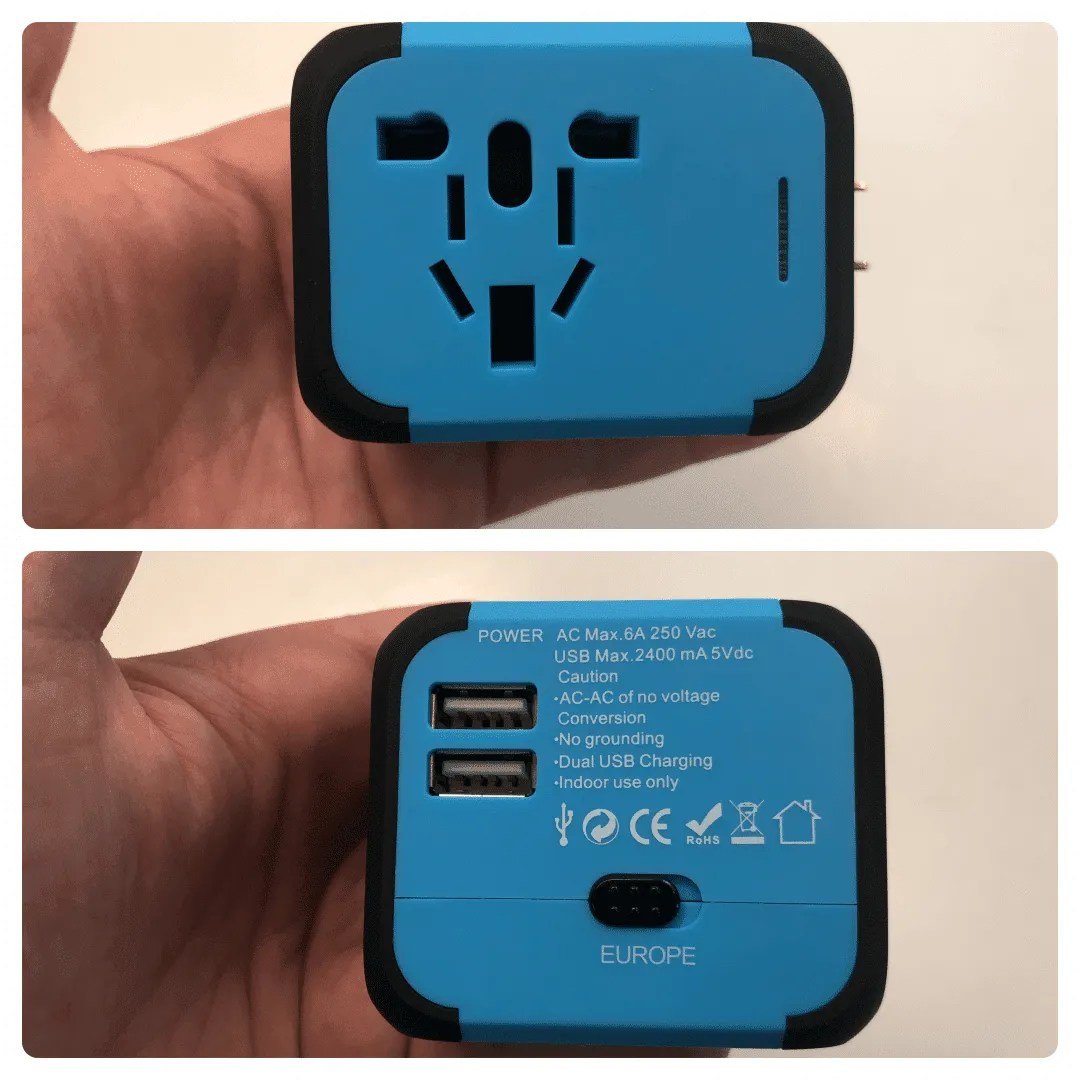 DuaFire Travel Adapter USB