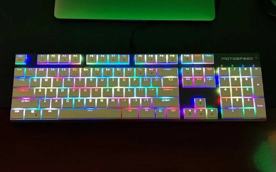 Motospeed CK94 NKRO Slim Wired Gaming Mechanical Keyboard REVIEW