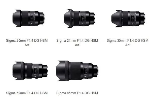 Sigma Ships Five Prime Art Lenses for Sony Cameras NEWS | Mac Sources
