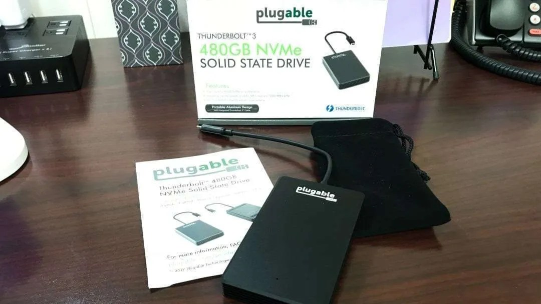 Plugable Thunderbolt 3 480GB NVMe SSD REVIEW