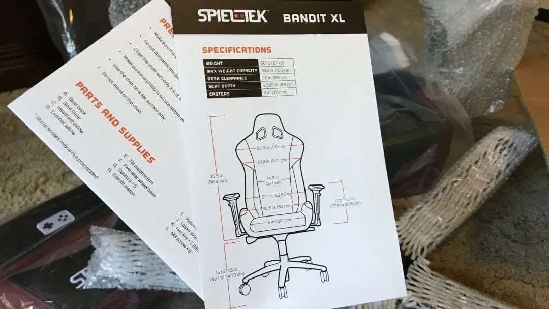 Spieltek Bandit XL Gaming Chair V2 REVIEW