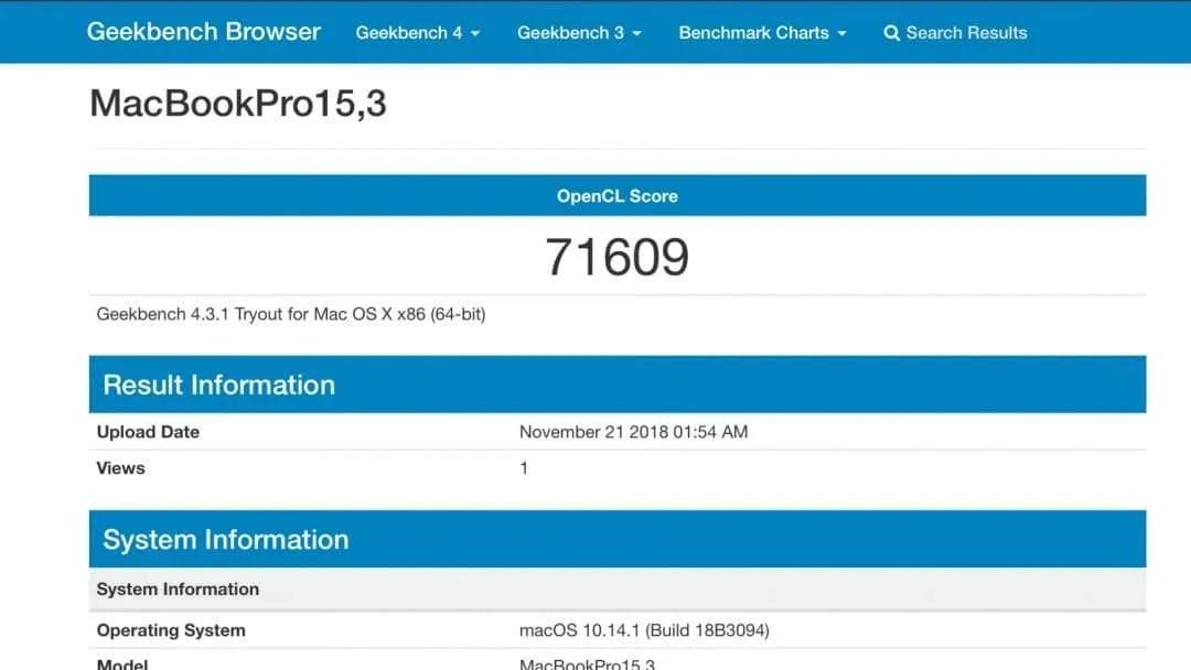 MacBook Pro with Radeon Pro Vega 20 Graphics First