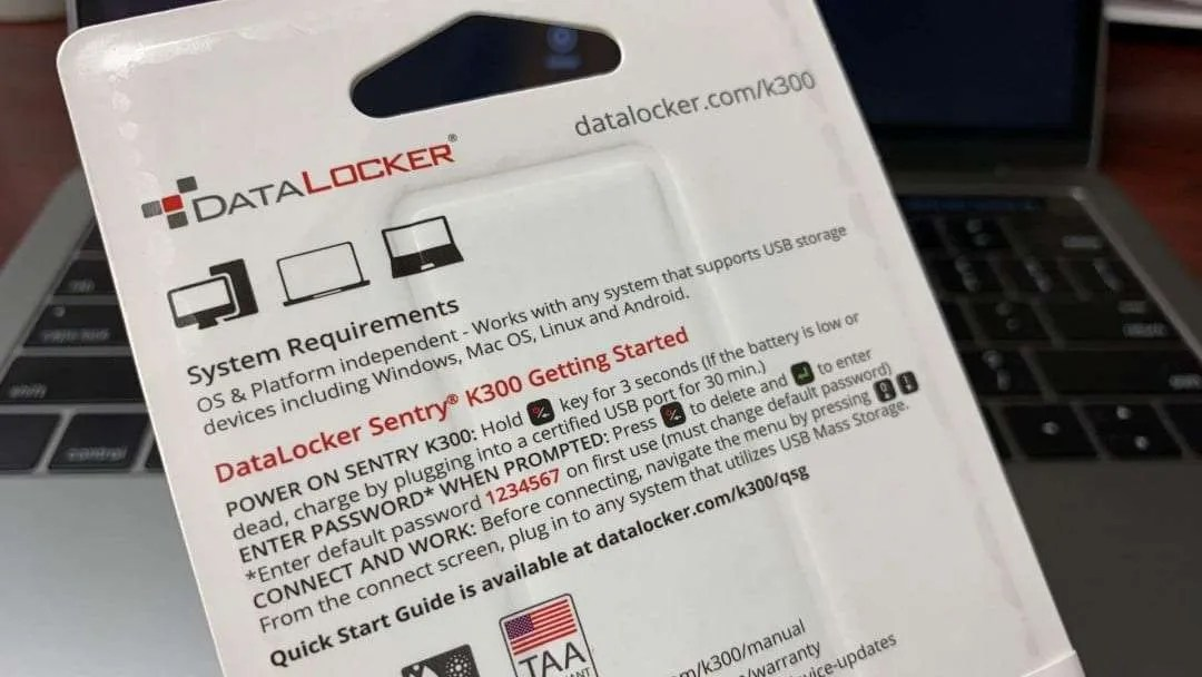 DataLocker Sentry K300 Encrypted Micro SSD REVIEW