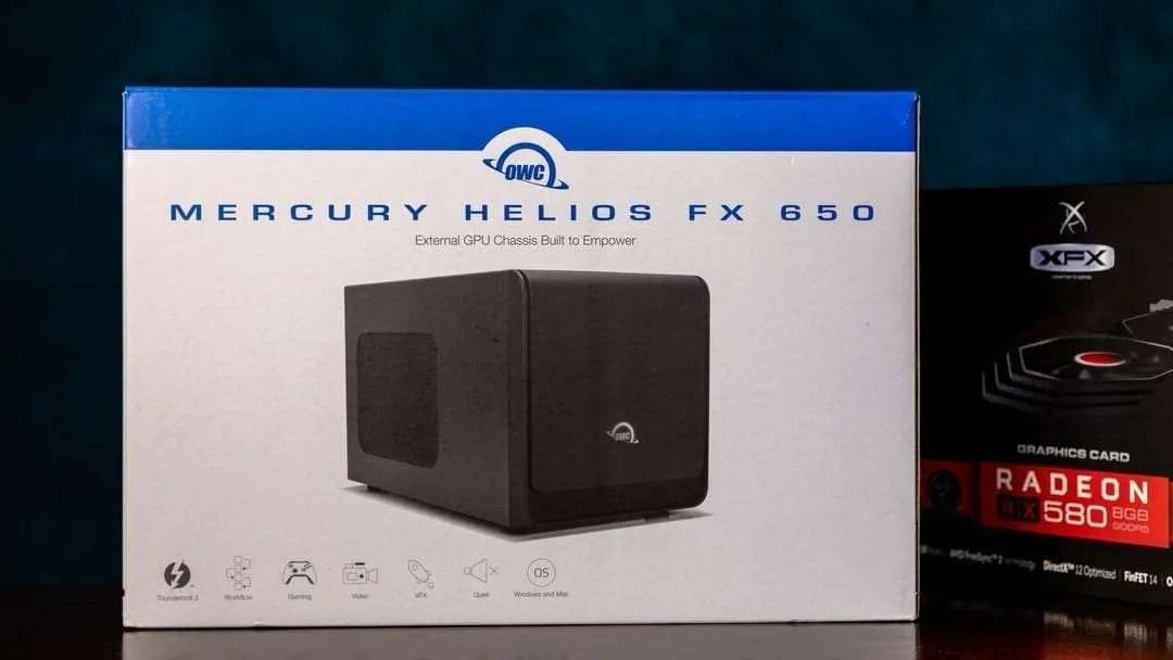OWC Mercury Helios FX 650 eGPU Chassis REVIEW