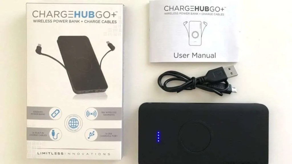 ChargeHubGO+ Wireless Charging Power Bank REVIEW