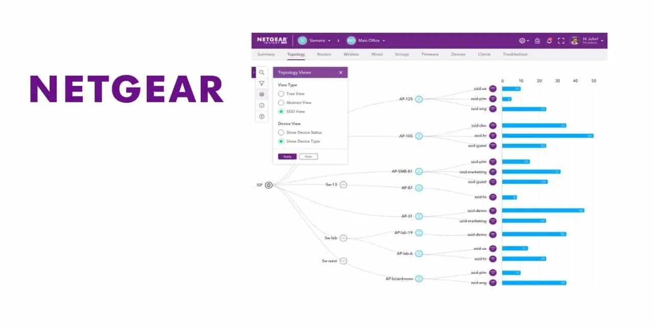 NETGEAR ENHANCES INSIGHT CLOUD MANAGEMENT PLATFORM WITH INTUITIVE NETWORK TOPOLOGY MAPS NEWS