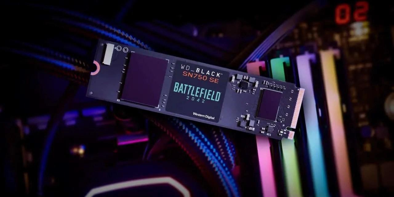 WD_BLACK SN750 SE NVMe™ SSD Battlefield™ 2042 PC Game Code Bundle Announced NEWS