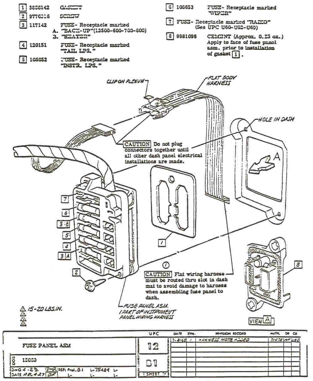 69 Camaro Fuse Box Diagram Wiring Schematics Schematic 67 Block