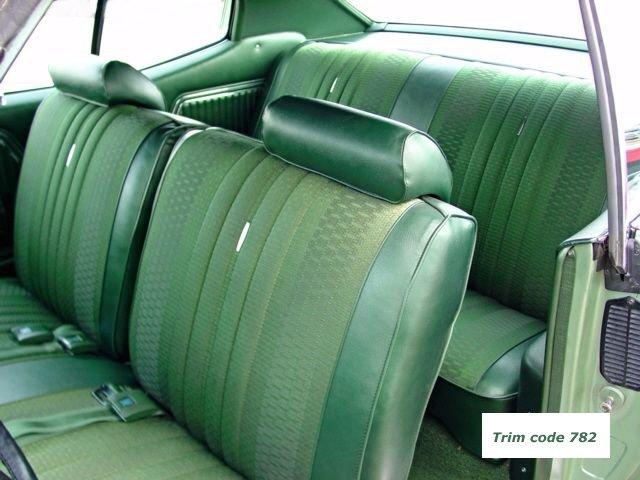 1970 Chevelle Interior Bench Seat