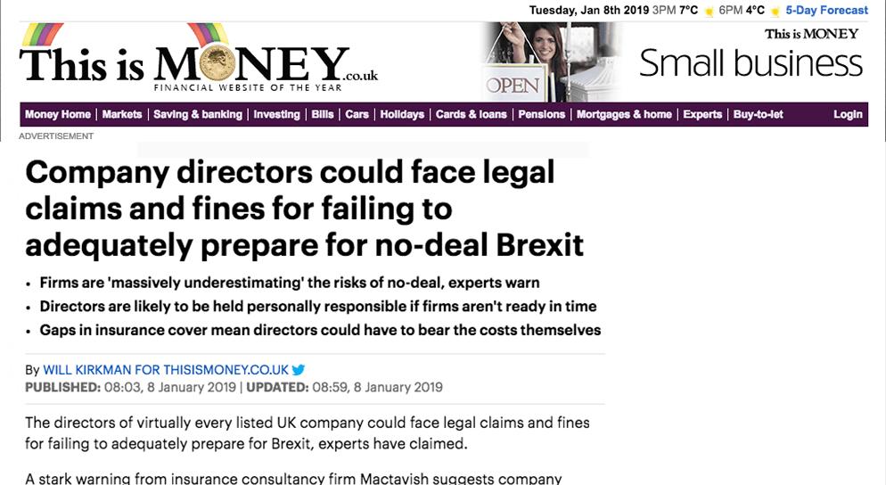 Failing to prepare no deal Brexit