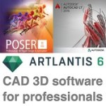 cad 3d software for professionals 21.02.2016 autodesk autocad 2016 smith micro poser pro artlantis studio