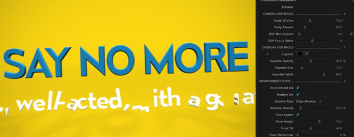 Utilizes Full 3D Text with Animations