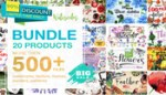 Watercolor Mega Bundle – 20 Sets with over 500 Graphics