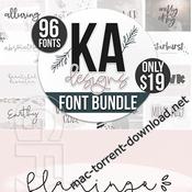 Best of 2018 big font bundle icon