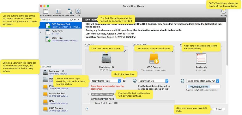 Carbon Copy Cloner 5110 Screenshot 02