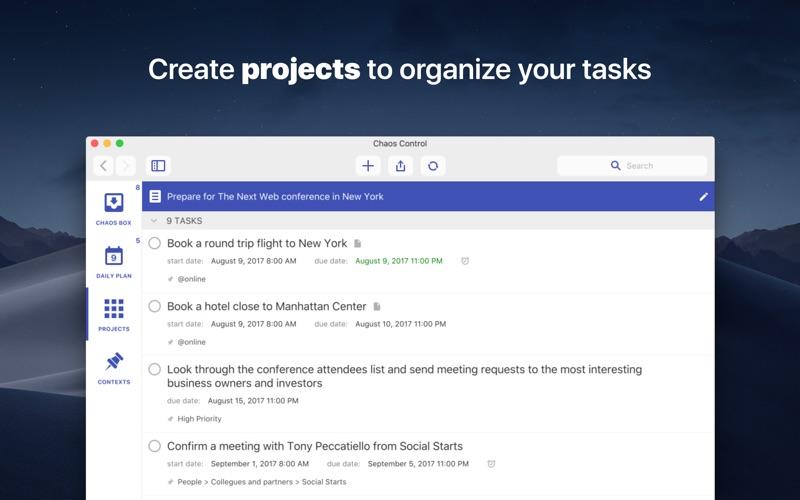 Chaos Control™: GTD Organizer Screenshot 2