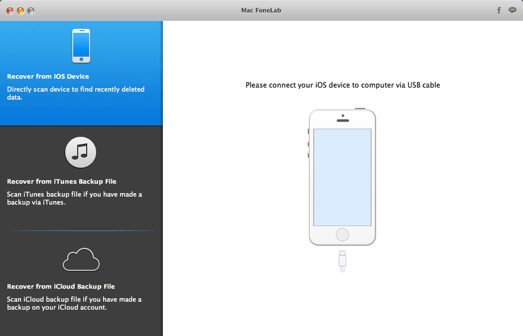 Mac FoneLab for iOS 10112 Screenshot 01