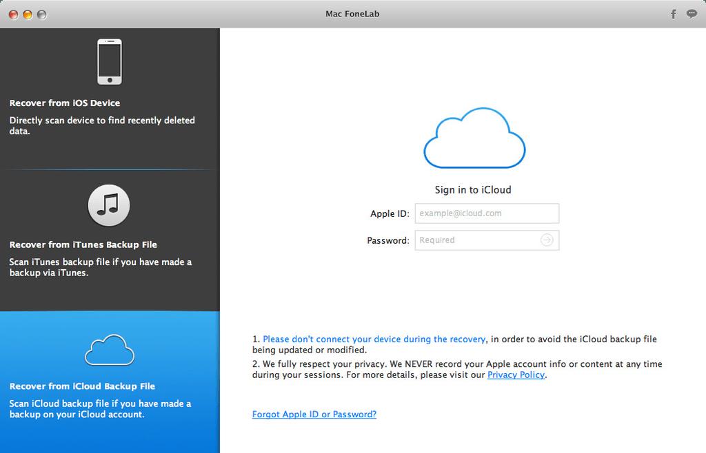 Mac FoneLab for iOS 10112 Screenshot 03