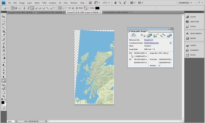 Avenza Geographic Imager for Adobe Photoshop 60 Screenshot 02 1fkigqun