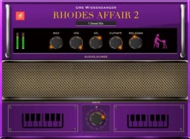 Image result for Audiolounge Urs Wiesendanger Rhodes Affair 2 Preset Player AU VST