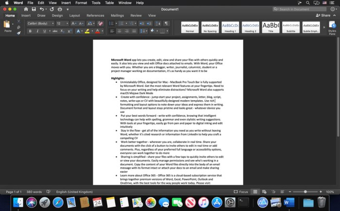 Microsoft Word 2019 1629 VL Screenshot 02 1iszrxln