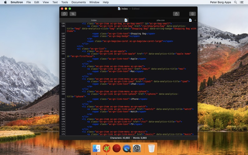 Smultron 10 - Text editor Screenshot 02 tb0hqgy