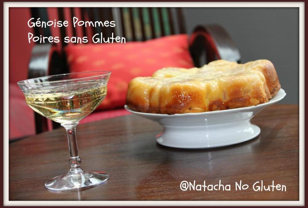 Génoise pommes poires sans gluten