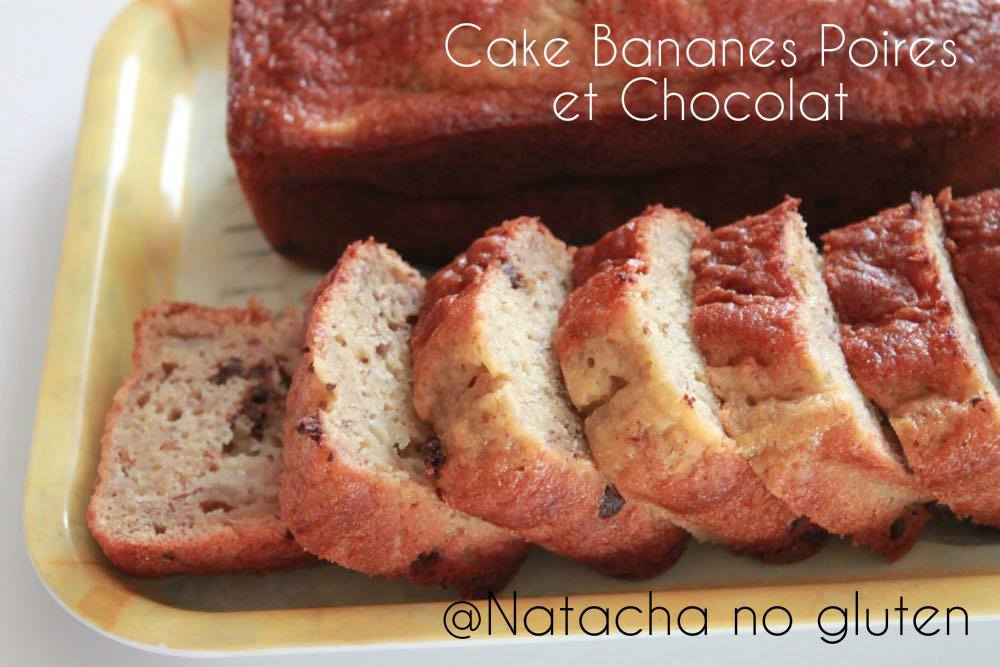 Cake Bananes Poires Chocolat sans gluten