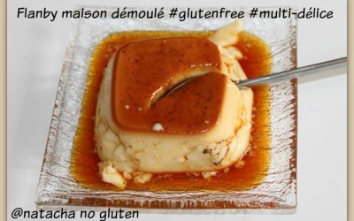 Flans caramel façon flanby sans gluten (multi-délice)