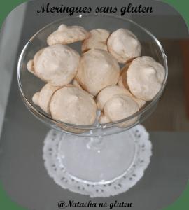 Meringues sans gluten