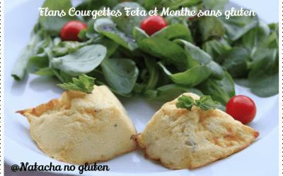 Flans courgettes feta menthe sans gluten