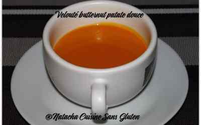 Velouté butternut patate douce sans gluten