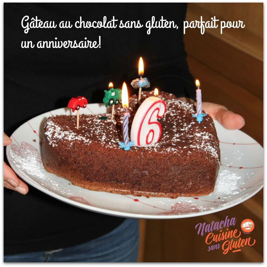 Gâteau au chocolat sans gluten idéal pour un anniversaire
