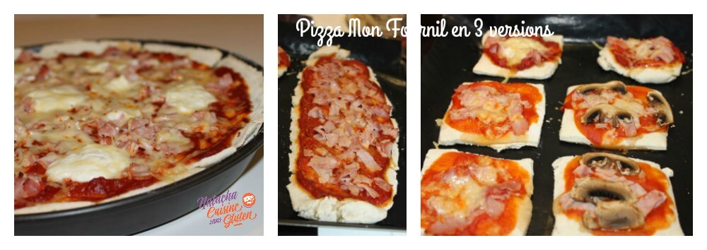 pizza mon Fournil en 3 versions