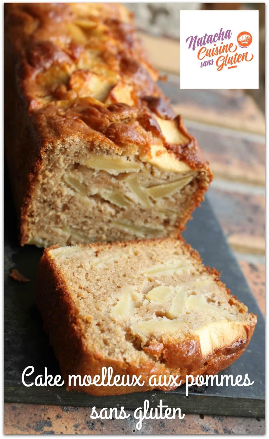 Cake moelleux aux pommes sans gluten