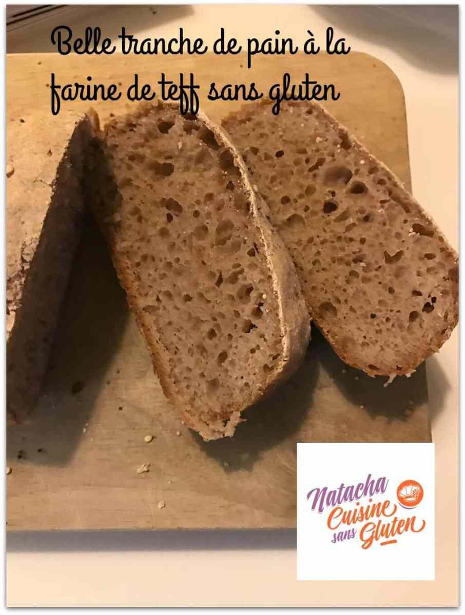 Pain à la farine de teff sans gluten