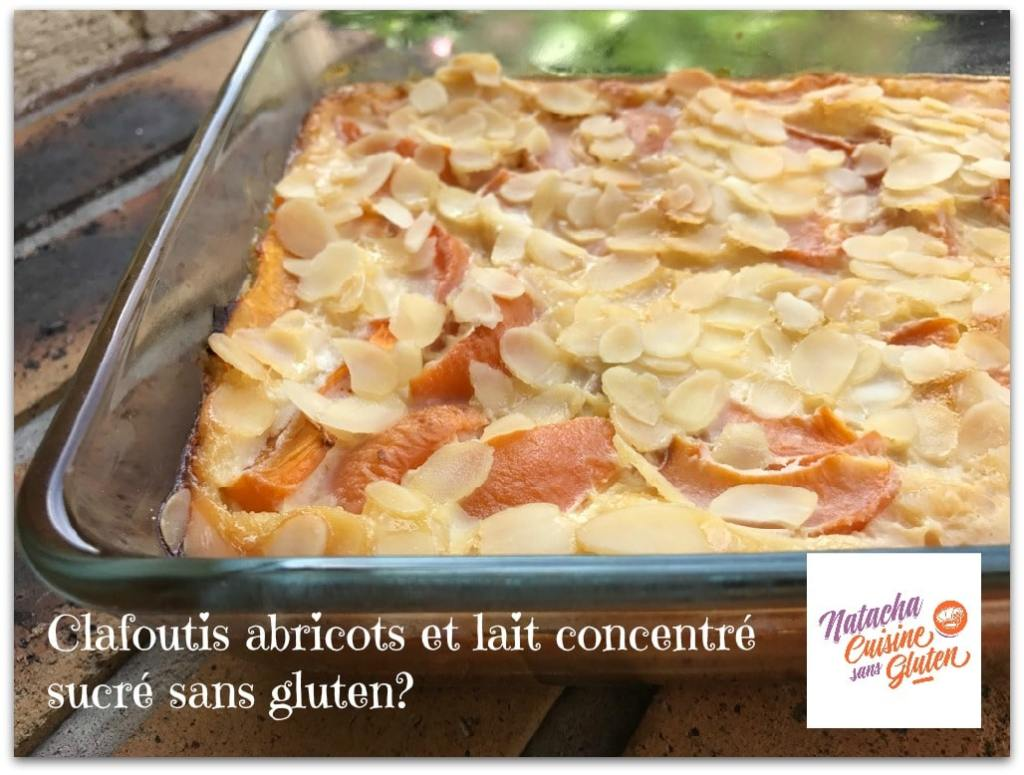 Clafoutis aux abricots avec lait concentré sucré sans gluten