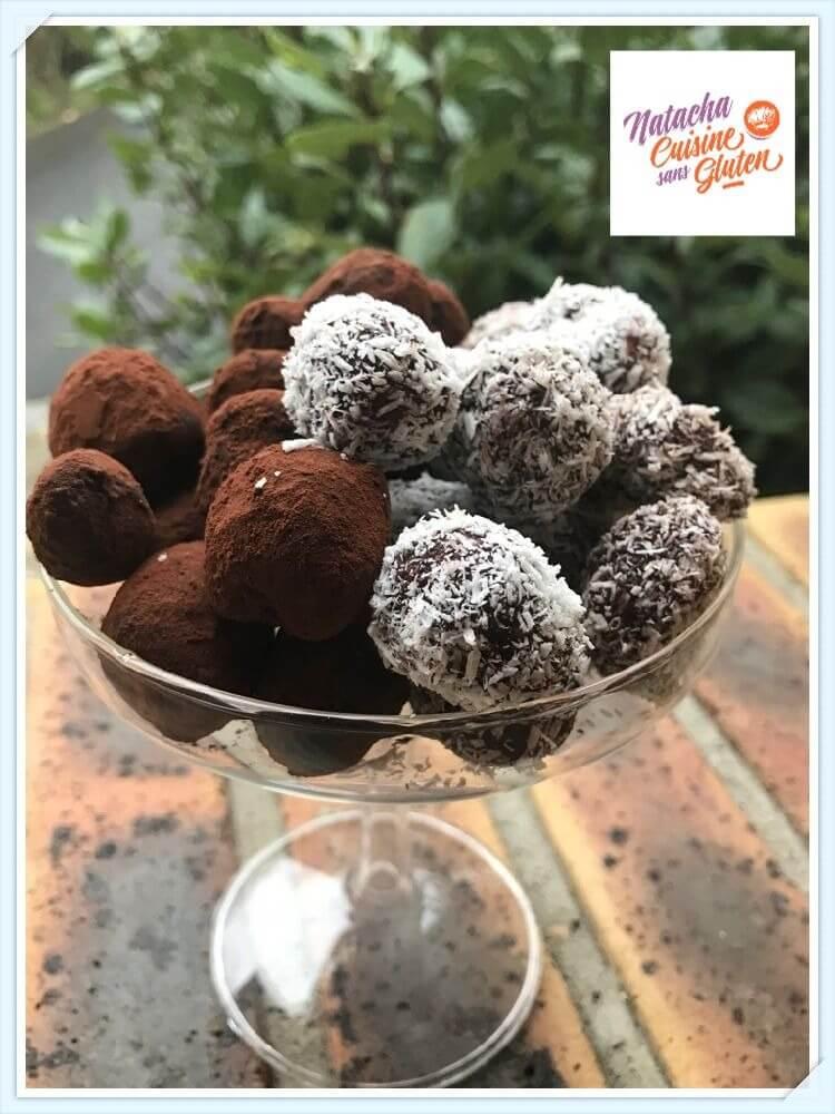 Truffes au chocolat sans gluten