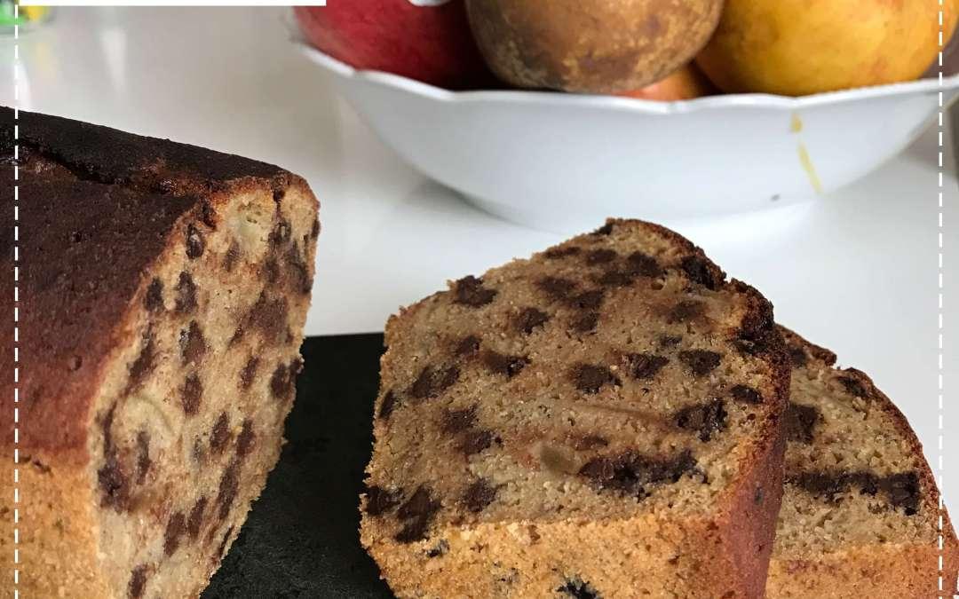 Cake bananes poire chocolat sans gluten