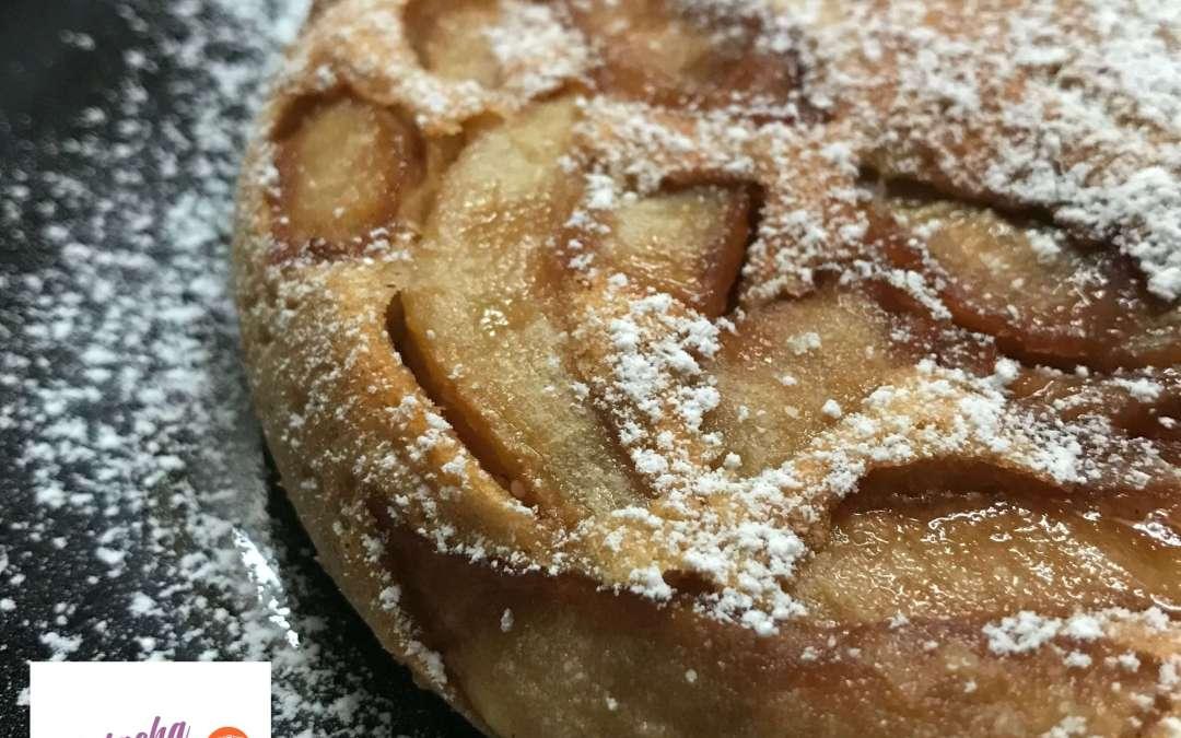 Gâteau sans gluten aux pommes à la poêle