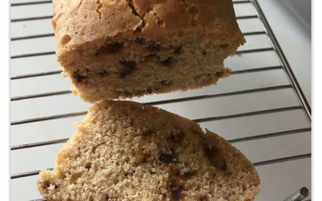 Cake petit déjeuner banane sans gluten et sans lactose